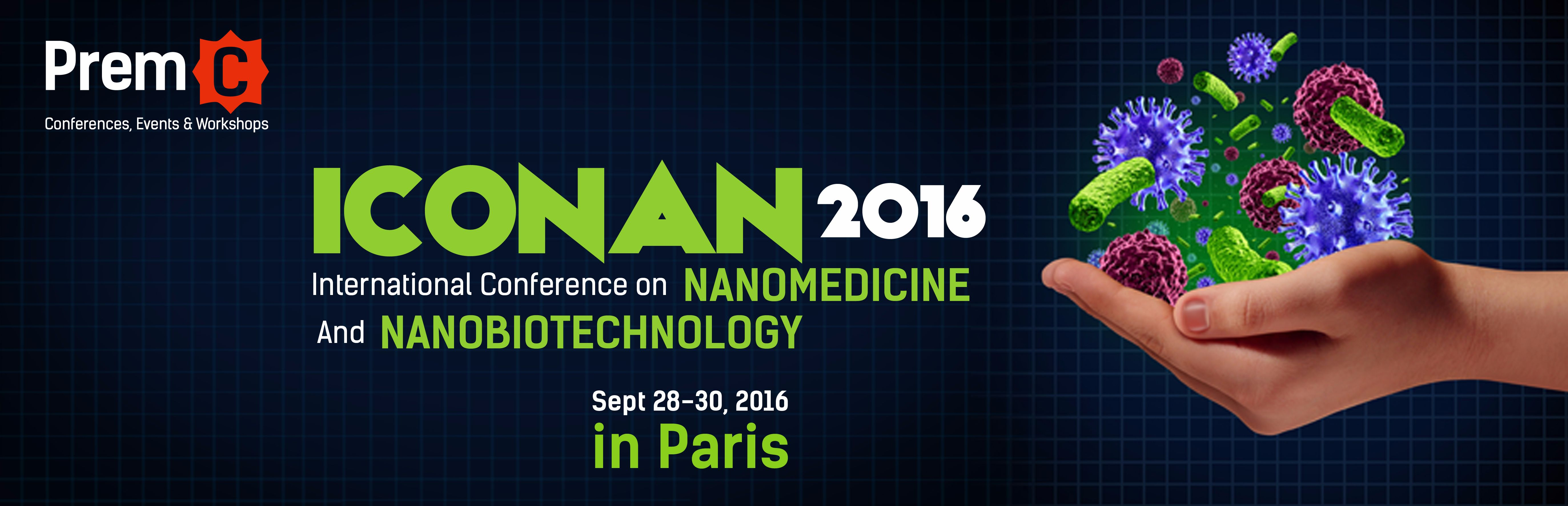 ICONAN 2016 – Conference On Nanomedicine and Nanobiotechnology