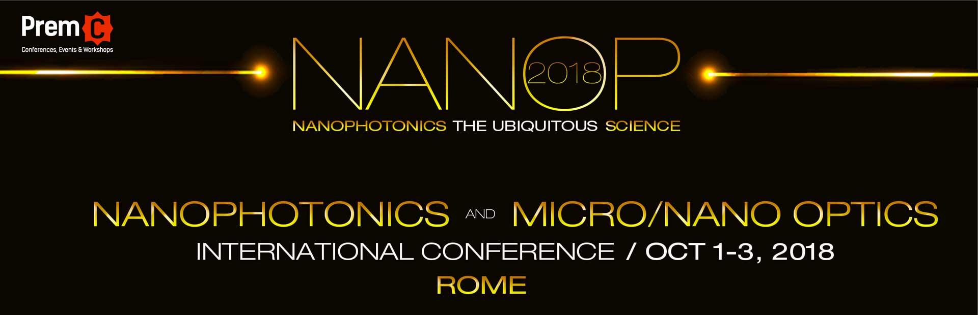 Nanophotonics and Micro/Nano Optics International Conference 2018 banner