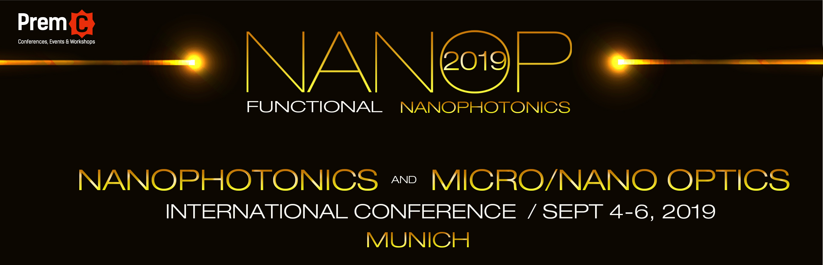 Nanophotonics and Micro/Nano Optics International Conference 2018 banner