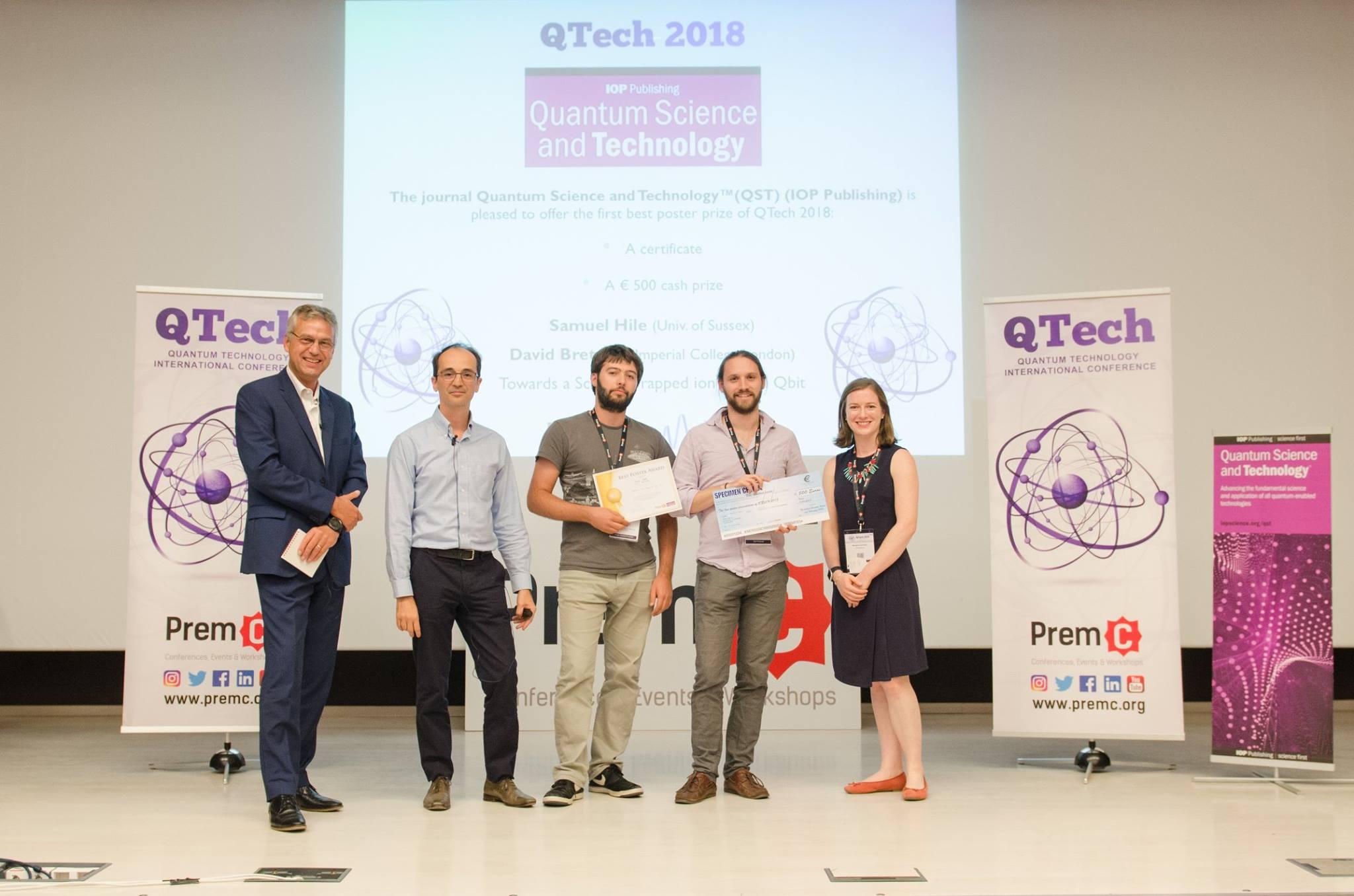 Best Poster Award - QTech 2018