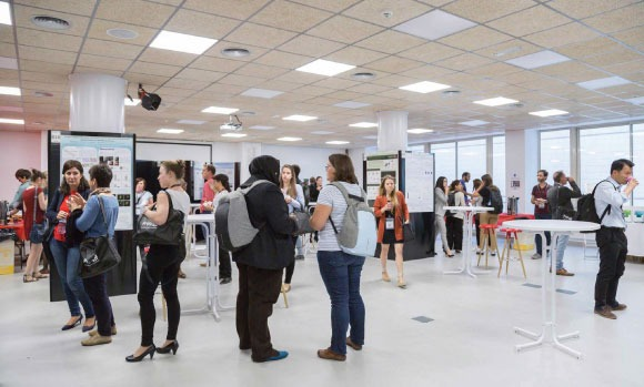 Picture  of poster session in Pompeu Fabra University - Balmes bulding - S3IC conference