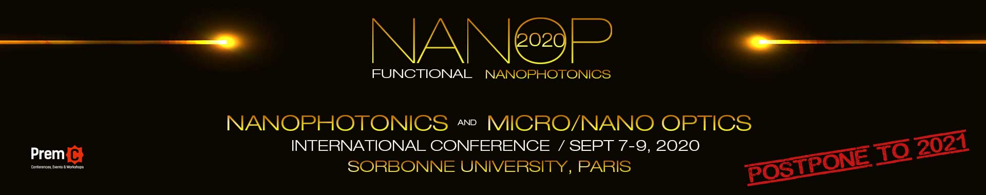Nanophotonics and Micro/Nano Optics International Conference banner